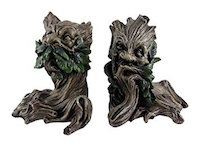green_man_bookend_set
